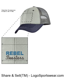 Tri-colored Trucker Snap Back Hat Design Zoom